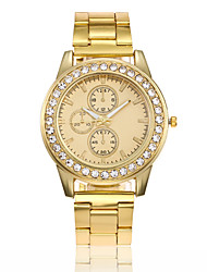 preiswerte -Damen Quartz Uhr Freizeit Modisch Silber Gold Rotgold Legierung Chinesisch Quartz Gold Silber Rotgold Niedlich Kreativ Armbanduhren für den Alltag 1 Stück Analog