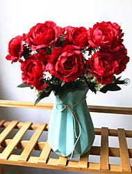 preiswerte -Künstliche Blumen 1 Ast Klassisch Europäisch Hochzeitsblumen Pfingstrosen Ewige Blumen Tisch-Blumen