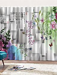 Недорогие -3d цифровая печать на заказ страны конфиденциальность две панели занавес для ванной комнаты декоративные шторы