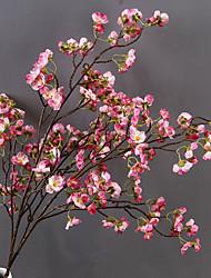 Недорогие -Искусственные Цветы 1 Филиал Односпальный комплект (Ш 150 x Д 200 см) Современный современный Свадьба Сакура Букеты на стол