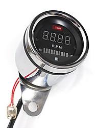 Недорогие -2 в 1 мотоцикл светодиодный цифровой спидометр тахометр масло датчик топлива