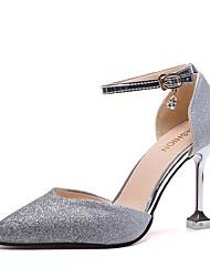 Недорогие -Жен. Обувь на каблуках На каблуке-рюмочке Синтетика Лето Серебряный / Лиловый / Розовый