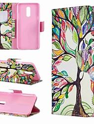 Недорогие -Кейс для Назначение LG LG V30 / LG V20 / LG Stylo 4 Кошелек / Защита от удара / со стендом Чехол дерево Твердый Кожа PU / LG G6
