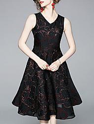 Недорогие -Жен. Элегантный стиль Оболочка Платье - Геометрический принт, С принтом Средней длины