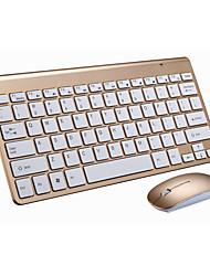 Недорогие -майкоу 2.4г комплект ультра-тонкой беспроводной клавиатуры мыши