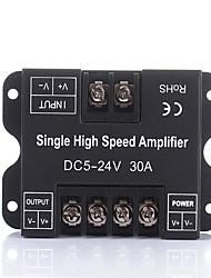 Недорогие -dc5v 12v 24v 30a одноцветный светодиодный усилитель повторитель сигнала данных 1ch 1 канал усилитель мощности диммера для белых светодиодных полос света