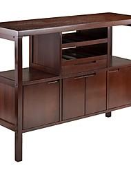 Недорогие -винный шкаф буфет стол буфет с отделкой коричневого дерева