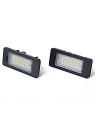 Недорогие -Автомобиль Лампы 2.8 W Светодиодная лампа Подсветка для номерного знака Назначение BMW E92 / E93 2001 / 2002 / 2003