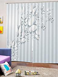 Недорогие -3d цифровая печать сплошной цвет уединение две панели занавес для ванной комнаты декоративные шторы