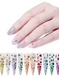 billige -12 pcs Nyt Design / Bedste kvalitet Plastik Pailletter Til Fingernegl Mode Negle kunst Manicure Pedicure Daglig / Festival Stilfuld / Sød