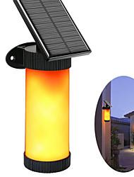 Недорогие -светодиодный сад солнечный свет открытый 3 режим светодиодные солнечные лампы пламя стены 2835smd водонепроницаемый темный датчик для двора скамейке путь кемпинг