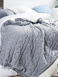Недорогие -Многофункциональные одеяла, Однотонный Полиэстер Мягкость одеяла