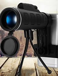 Недорогие -40x60 bak4 монокуляр телескоп hd мини монокуляр для охоты на открытом воздухе кемпинга с зажимом для телефона