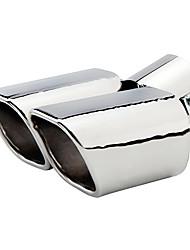Недорогие -63 мм диаметр входного отверстия изогнутая нержавеющая сталь выхлопной трубы автомобиля глушитель модифицированный хвостовое горло