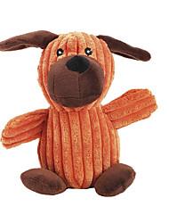 Недорогие -милый щенок в форме скрип жевательной Плюшевая игрушка для домашних собак (случайный цвет)