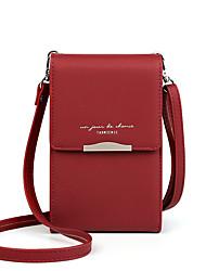 Недорогие -Жен. PU Мобильный телефон сумка Сплошной цвет Розовый / Серый / Желтый