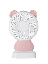 Недорогие -1шт ручной мини вентилятор портативный ub заряженный светодиодный кролик медведь электрический вентилятор