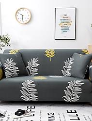 Недорогие -Листья с рисунком Диван Чехол Защитная пленка Спандекс Стрейч Секционное кресло 3-местное Т-образная подушка Г-образное кресло Чехол на диван