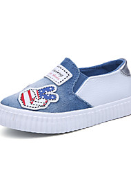 ราคาถูก -เด็กผู้ชาย / เด็กผู้หญิง ผ้าใบ รองเท้าส้นเตี้ยทำมาจากหนังและรองเท้าสวมแบบไม่มีเชือก เด็กวัยหัดเดิน (9m-4ys) / เด็กน้อย (4-7ys) ความสะดวกสบาย สีดำ / น้ำเงินเข้ม / สีฟ้า ฤดูใบไม้ผลิ / ฤดูร้อน