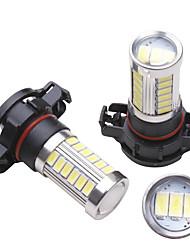 Недорогие -2 шт. H16 led 5202 33smd 5630 светодиодные автомобильные лампочки для противотуманных фар дневного света drl 850lm 6000 К белый стайлинг автомобиля