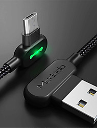 Недорогие -Micro USB Кабель 1.8M (6 футов) Плетение / Быстрая зарядка Нейлон Адаптер USB-кабеля Назначение Samsung / LG / Nokia