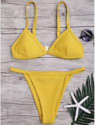 baratos -Mulheres Rosa Cinzento Amarelo Biquíni Roupa de Banho - Geométrica S M L Rosa