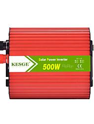 Недорогие -Kesge 500 Вт эллипс автомобильный инвертор DC12V / 24V-AC220V / 110В с 2 USB постоянного тока в инвертор переменного тока