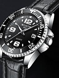 Недорогие -Муж. Спортивные часы Кварцевый Нержавеющая сталь Защита от влаги Календарь Фосфоресцирующий Аналоговый Классика
