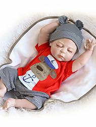 Недорогие -NPK DOLL Куклы реборн Дети Reborn Baby Doll 22 дюймовый Полный силикон для тела Силикон Винил - как живой Милый стиль Ручная работа Безопасно для детей Новый дизайн Non Toxic Детские / CE