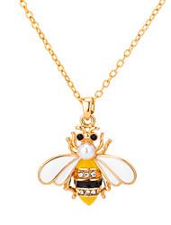 Недорогие -Жен. Ожерелья с подвесками Классический Пчела лакомство Художественный Богемные Хром Желтый 45 cm Ожерелье Бижутерия 1шт Назначение Подарок Для улицы Праздники