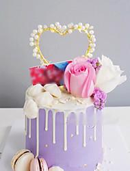 Недорогие -Украшения для торта Сад Свадьба Стразы / Сплав с Сердце 1 pcs Пенополиуретан