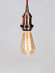 Недорогие -1шт 4 W LED лампы накаливания 300 lm E26 / E27 ST64 1 Светодиодные бусины COB Диммируемая Декоративная Мягкая нить Тёплый белый 220-240 V