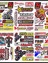 Недорогие -10 весь комплект мотокросс гоночный шлем мотоцикл этикета забавный грузовик графический велосипед виниловая наклейка для honda yamaha a4 размер / лист