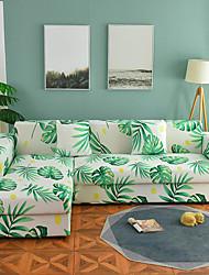 Недорогие -чехол для дивана высокие эластичные зеленые листья комбинаторный мягкий эластичный полиэстер