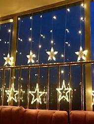 Недорогие -2.5 м 138 светодиодов сосулька светодиодные звезды гирлянды рождественские гирлянды занавес строки огни звезда лампа свадьба новогоднее украшение