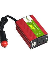 Недорогие -Kesge 200 Вт мини-автомобильный инвертор DC12 / 24V-AC220V / 110V с 2 USB американский стандартный разъем питания инвертор
