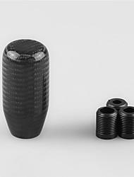 Недорогие -Ручка рычага переключения передач из углеродного волокна с 3 адаптерами Универсальный автомобиль