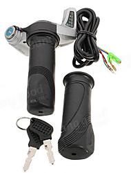 Недорогие -7/8 дюйма (22,2 мм) 24 В электрический скутер мотоцикл поворот дроссельной заслонки ручки руль светодиодный цифровой метр