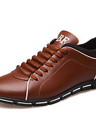 Недорогие -Муж. Комфортная обувь Кожа Весна лето Английский Спортивная обувь Доказательство износа Черный / Желтый / Красный