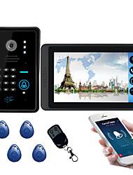 Недорогие -618mjids11 7-дюймовый емкостный сенсорный экран видеокамеры проводной видео дверной звонок Wi-Fi / 3 г / 4 г удаленного вызова разблокировки хранения открытый машина пароль карты