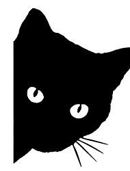 Недорогие -12x14 см автомобиль кошка лицо животное наклейка милый автомобиль грузовик окна бампер стены светоотражающие наклейки