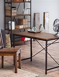 Недорогие -компактный письменный / компьютерный стол с металлическим каркасом и столешницей из ели