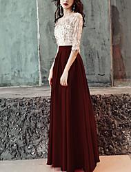 abordables -Mujer Sofisticado Línea A Vestido - Lentejuelas, Bloques Maxi