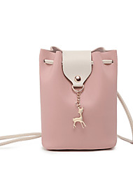 cheap -Women's Bags PU(Polyurethane) Crossbody Bag Solid Color Red / Blushing Pink / Gray