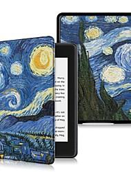 Недорогие -Кейс для Назначение Amazon Kindle Lite (2019) / Kindle PaperWhite 4 2018 Защита от удара / Флип / Ультратонкий Чехол Цвет неба Твердый Кожа PU