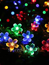 Недорогие -Loende 10 м 100 светодиоды вишни струнные фонари с питанием от батареи рождественский фестиваль украшения в помещении открытый двор свадебный светильник декоративные
