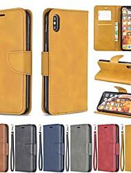 Недорогие -чехол для яблока iphone xr / iphone xs max магнитный / флип / противоударный чехол для всего тела сплошная твердая кожа pu для iphone xs / x / 8 plus / 7 / 6s plus / 6/5 / 5s / se
