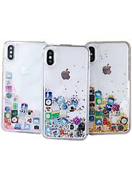 Недорогие -чехол для яблока iphone xs max / iphone 8 plus diy / pattern / течет жидкость задняя крышка блестящий блеск жесткий ПК / ТПУ для iphone 7/7 plus / 8/6/6 plus / xr / x / xs