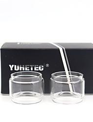 Недорогие -Запасная стеклянная трубка yuhetec бесплатно Макс Твистер 2шт
