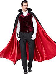 ieftine -Vampiri Costume Cosplay Mascaradă Costume Adulți Bărbați Ținute Halloween Crăciun Halloween Carnaval Festival / Sărbătoare Material Din Fâș Poliester Roșu+negru Costume de Carnaval Vacanță Vampiri